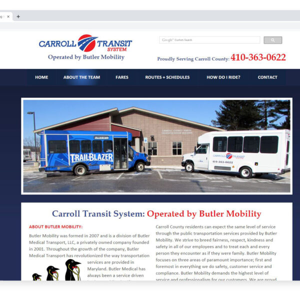 Carroll Transit System Custom Website Designed and Developed by Website GURL
