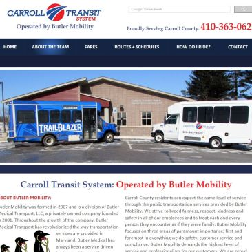 Carroll Transit System Website