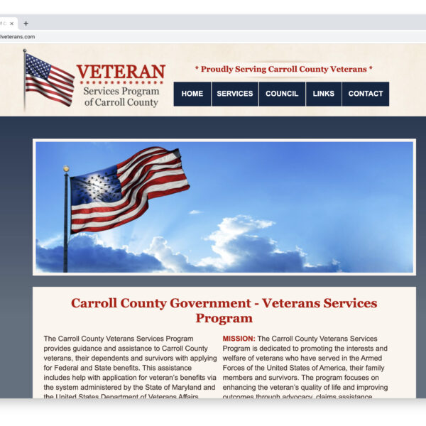 Carroll Veterans Services Custom Website Designed and Developed by Website GURL