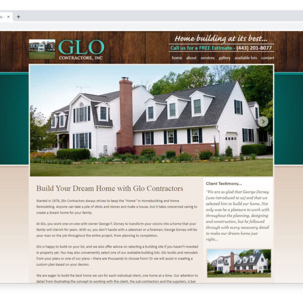 Glo Contractors Custom Website Designed and Developed by Website GURL