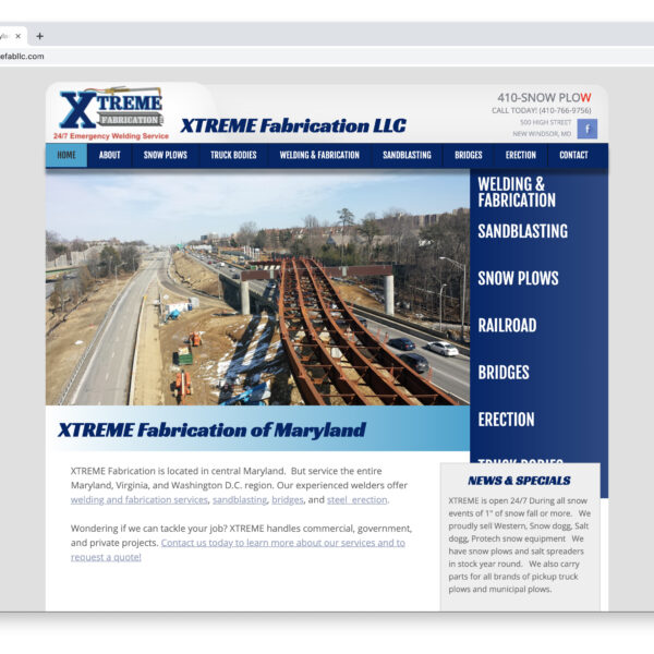 XTREME Fabrication Custom Website Designed and Developed by Website GURL