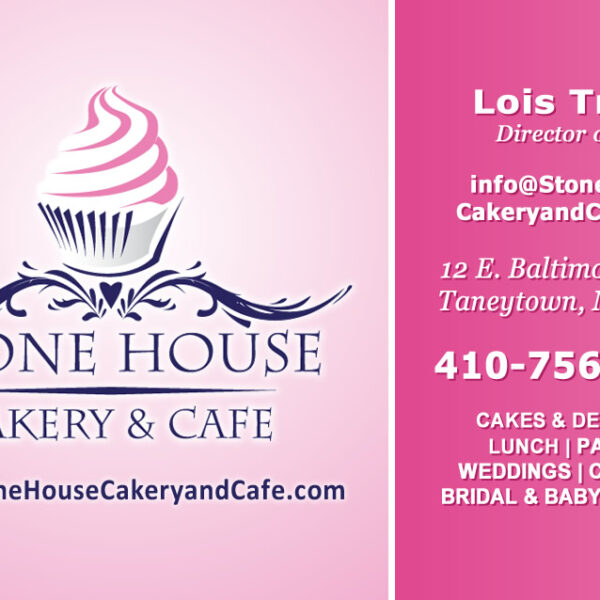 Stonehouse Cakery & Cafe Custom Designed Business Card by Website GURL