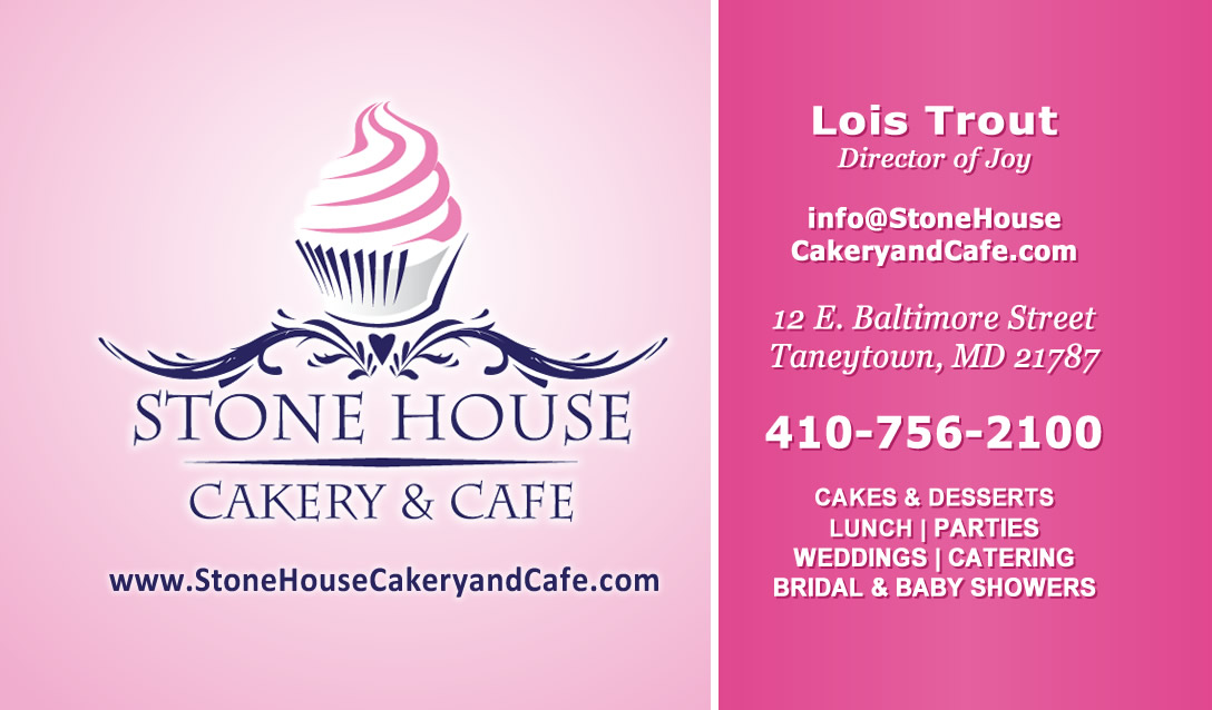 Stone house cakery business card design website gurl stone house cakery cafe business card colourmoves