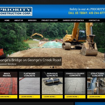Priority Construction Responsive Website