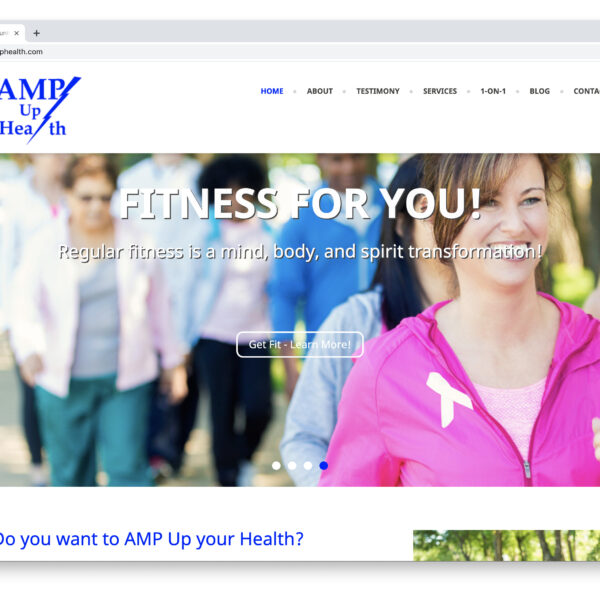 AMP Up Health WordPress Website by Website GURL