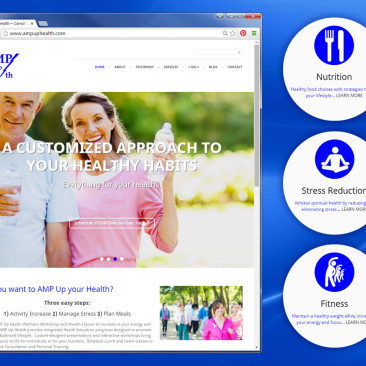 AMP Up Health WordPress Website