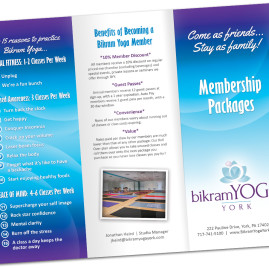 Bikram Yoga York Brochure Design