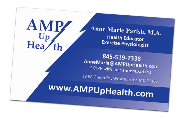 AMP Up Health Custom Designed Business Card by Website GURL