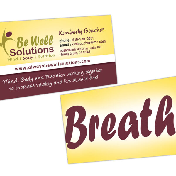 Be Well Solutions Custom Designed Business Card by Website GURL