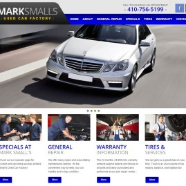 Mark Small's Used Car Factory Responsive Website