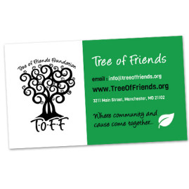 Tree of Friends Business Card Design