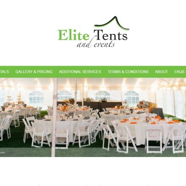 Elite Tents & Events Website