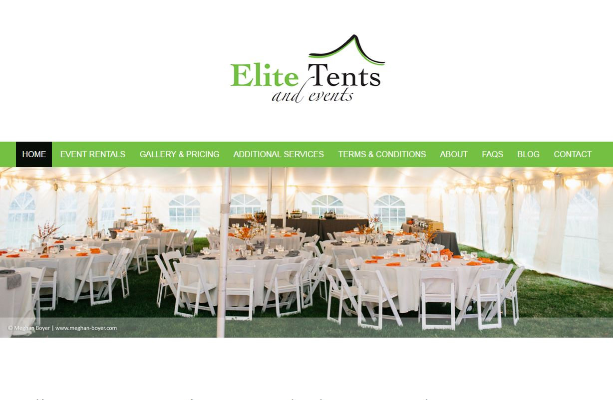 Elite Tents u0026 Eventsu0027 website is a responsive WordPress website. Through a u201cWebsite Development Dayu201d marketing director Ashley and I completed their ...  sc 1 st  Website GURL & Elite Tents u0026 Events Website | Website GURL