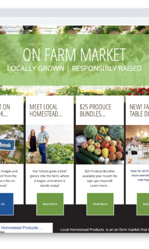 Local Homestead Products Custom Website Designed and Developed by Website GURL