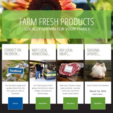 Local Homestead Products Website