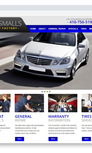 Mark Smalls Used Car Factory Custom Website Designed and Developed by Website GURL