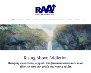 Rising Above Addiction Website Revamp by Website GURL