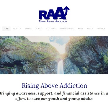 Rising Above Addiction Website Revamp