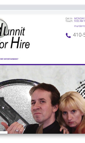Whodunnit For Hire WordPress Website by Website GURL