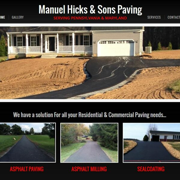 Manuel Hicks and Sons Paving Custom Website Designed and Developed by Website GURL