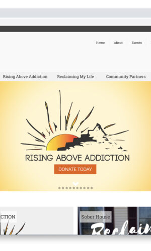 Rising Above Addiction WordPress Website by Website GURL