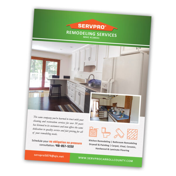 SERVPRO Custom Flyer / Handout Design by Website GURL