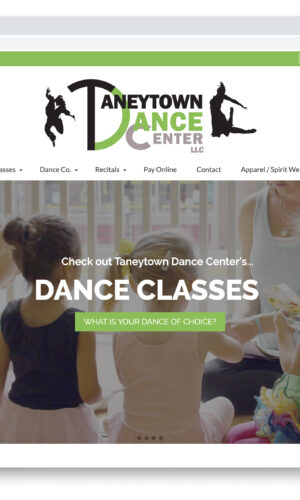 Taneytown Dance Center WordPress Website by Website GURL
