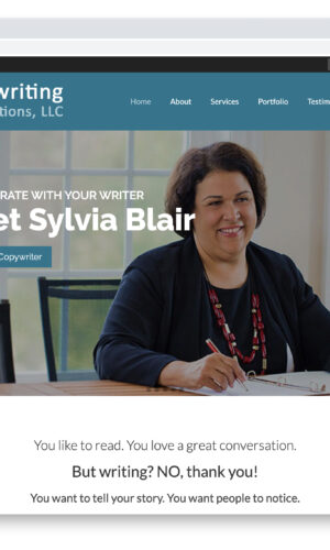 Blair Copywriting & Communications WordPress Website by Website GURL