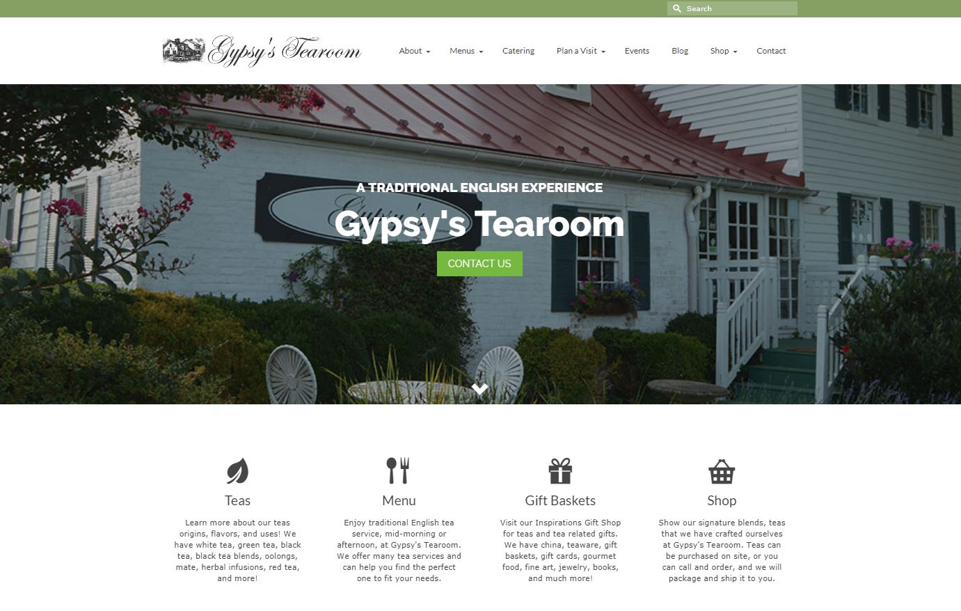 Gypsy's Tearoom WordPress Website by Website GURL