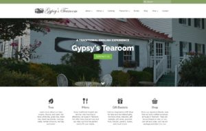 Gypsy's Tearoom is a WordPress website!