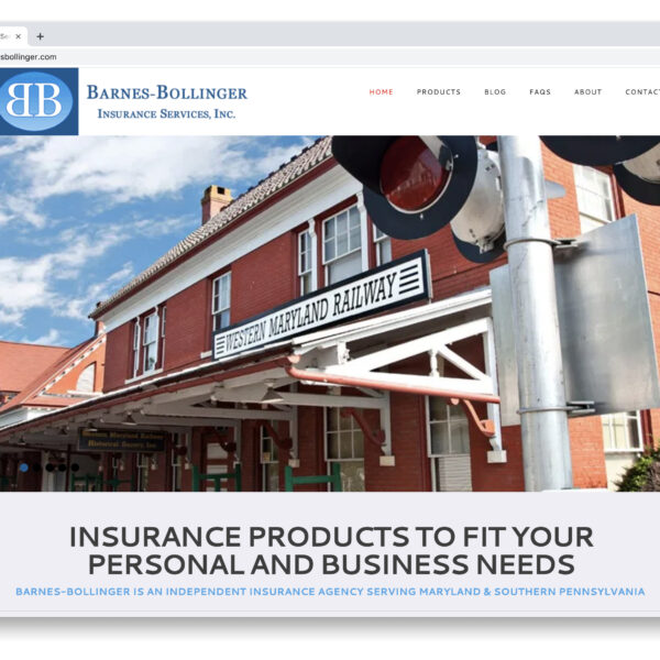 Barnes-Bollinger Insurance Services WordPress Website by Website GURL