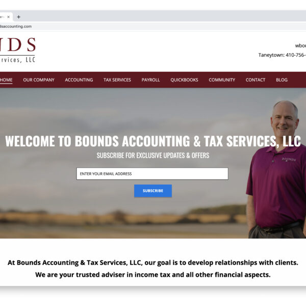 Bounds Accounting Website Project with Website GURL