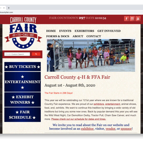 Carroll County 4H & FFA Fair Website GURL