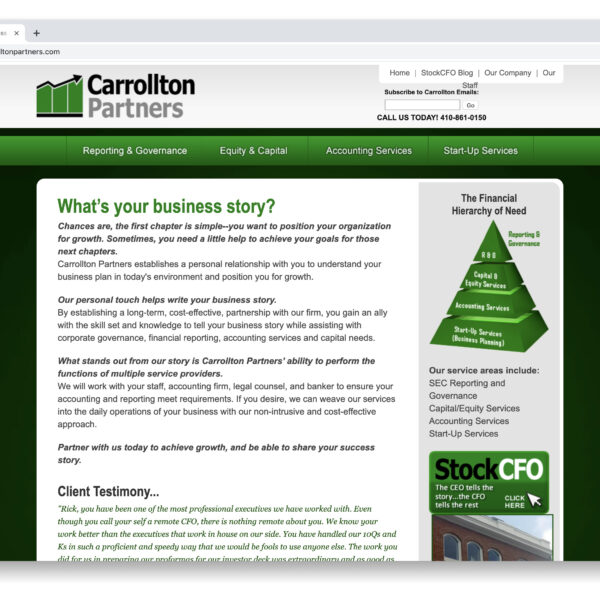 Carrollton Partners Custom Website GURL