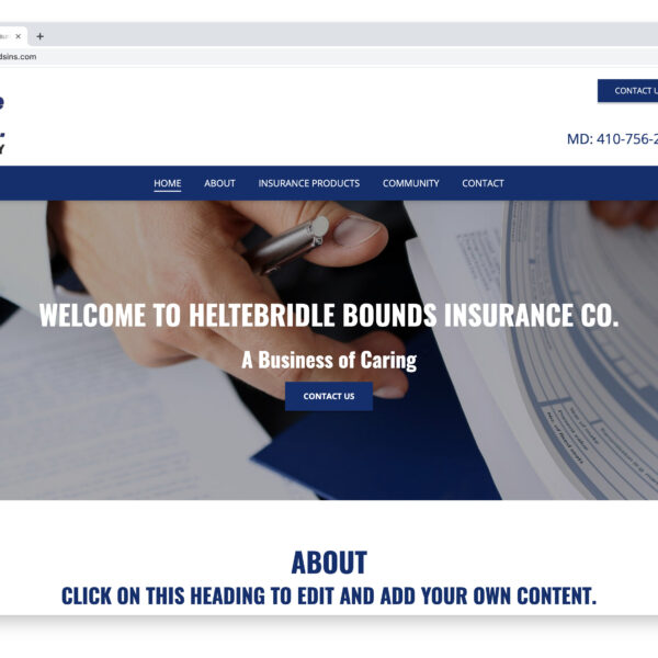 Heltebridle Bounds Insurance Website Project with Website GURL