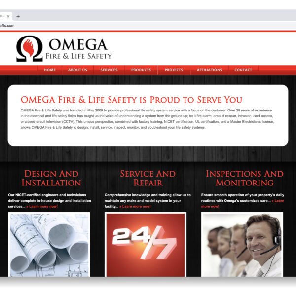 OMEGA Fire & Life Safety Custom Website GURL