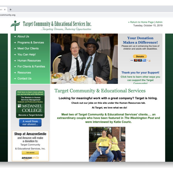 Target Community & Educational Services Custom Website GURL