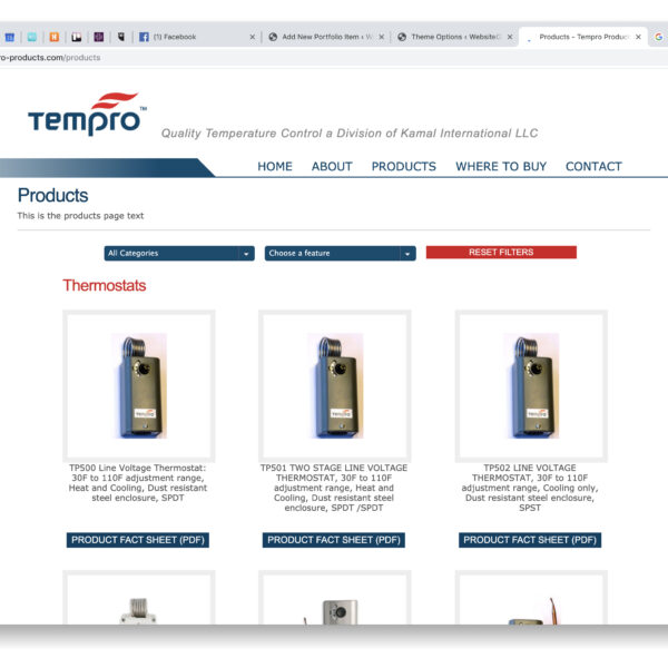 TEMPRO Website Design
